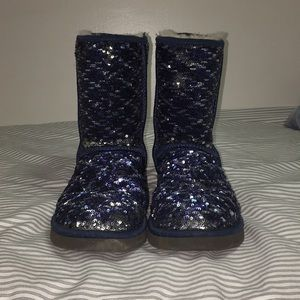 UGG Australia Blue Sparkly Boots